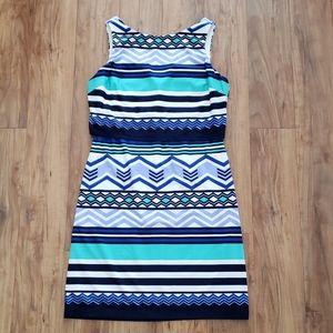 Eliza J Patterned Striped Dress Size 6